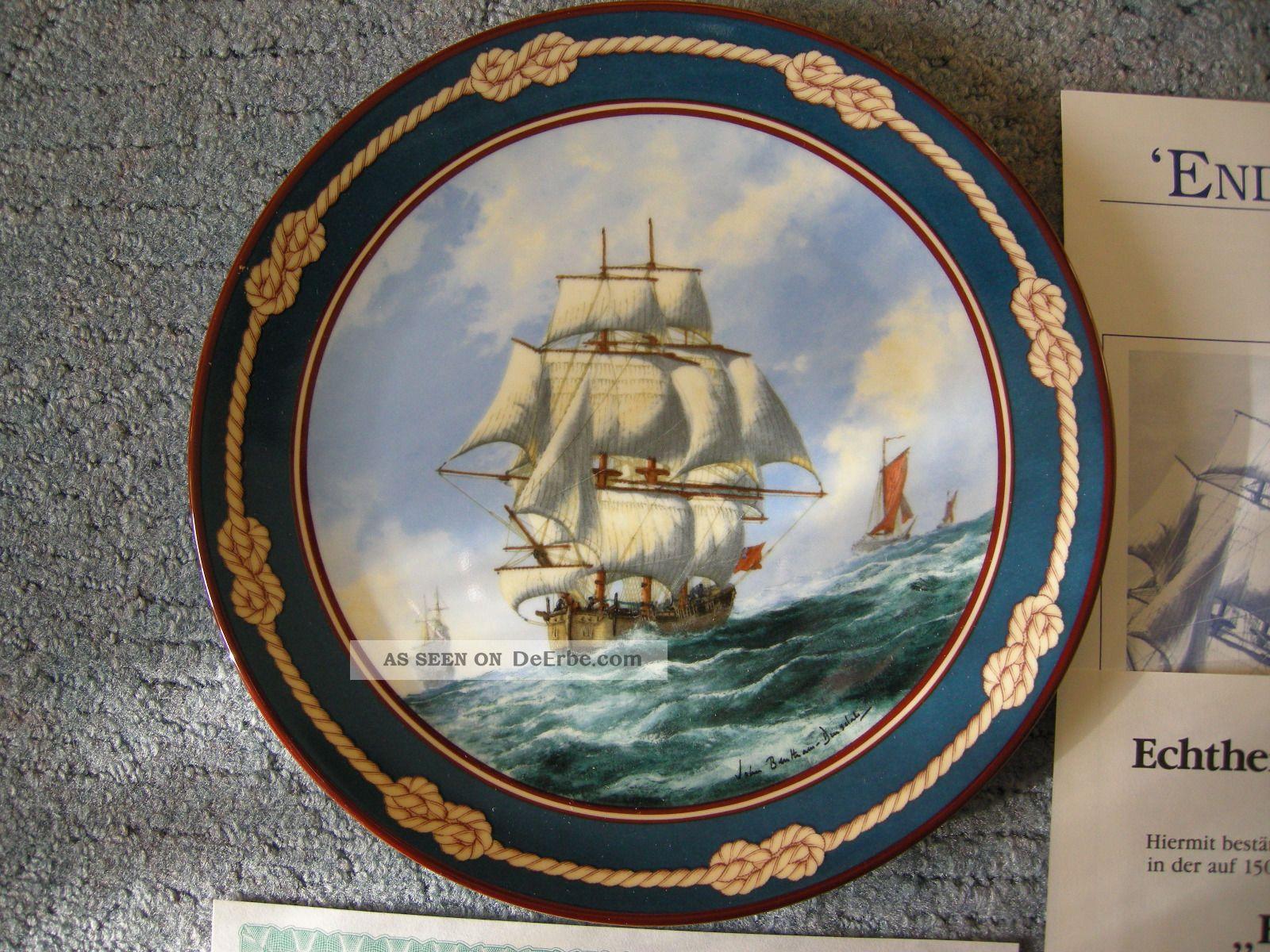 Royal Doulton Sammelteller Endeavour Bentham - Dinsdale Segelschiff 26 - R62 - 26.  1 Nautika & Maritimes Bild