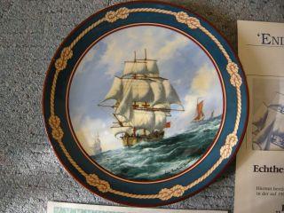 Royal Doulton Sammelteller Endeavour Bentham - Dinsdale Segelschiff 26 - R62 - 26.  1 Bild