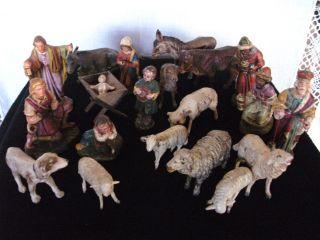 Massefiguren Krippefiguren 20 Figuren Weihnachten Krippe Bild