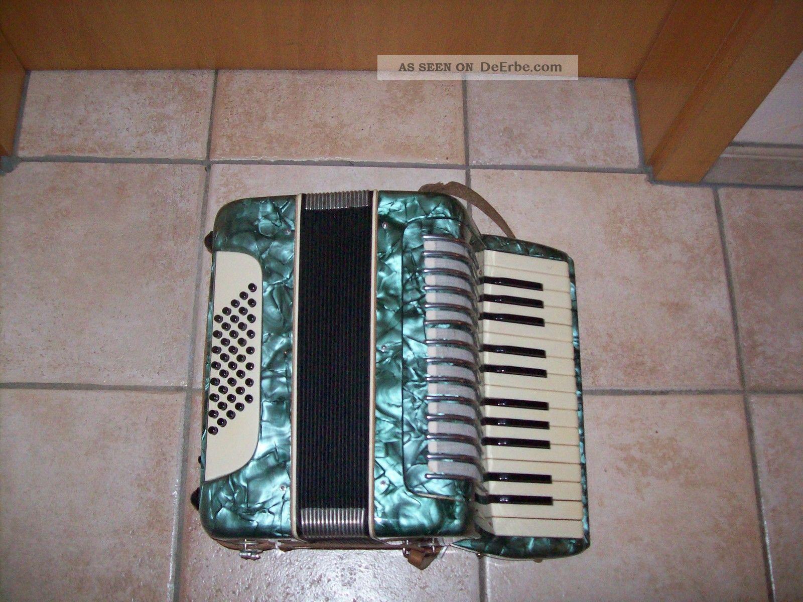 Akkordeon Schifferklavier 40 Bässe Von Max Graupner Klingentahl Ca.  1958 Musikinstrumente Bild