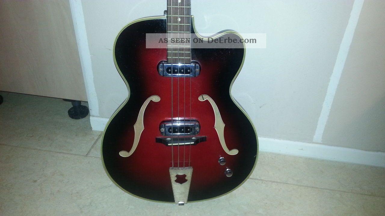 Vintage E - Bass E - Gitarre Jazz Meinel Herold 123cm Schönes Instrument 50er Rar ? Musikinstrumente Bild