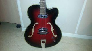 Vintage E - Bass E - Gitarre Jazz Meinel Herold 123cm Schönes Instrument 50er Rar ? Bild