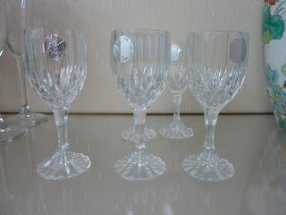 5 Likörgläser,  4 Sektgläser Aus Bleikristall,  Cristal Arques,  Gebr. Bild