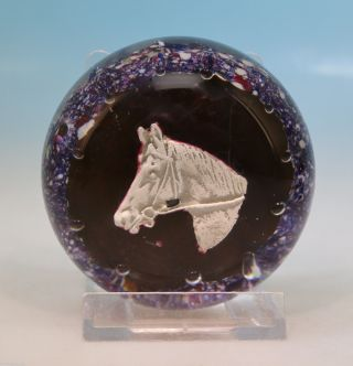 Für Pferdefans: Briefbeschwerer Paperweight Pferdekopf Sulphide Val St.  Lambert Bild