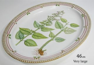 Royal Copenhagen Flora Danica 46cm Oval Plate Dish 1 Wahl /no Damages Bild
