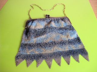Damenhandtasche - Antike Kettentasche - Theatertäschchen Bild
