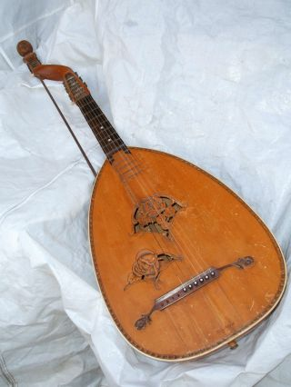 Antique German Lute Bass Gitarrenlaute Lauto Guitarra Antigua Luth Theorbe Basso Bild