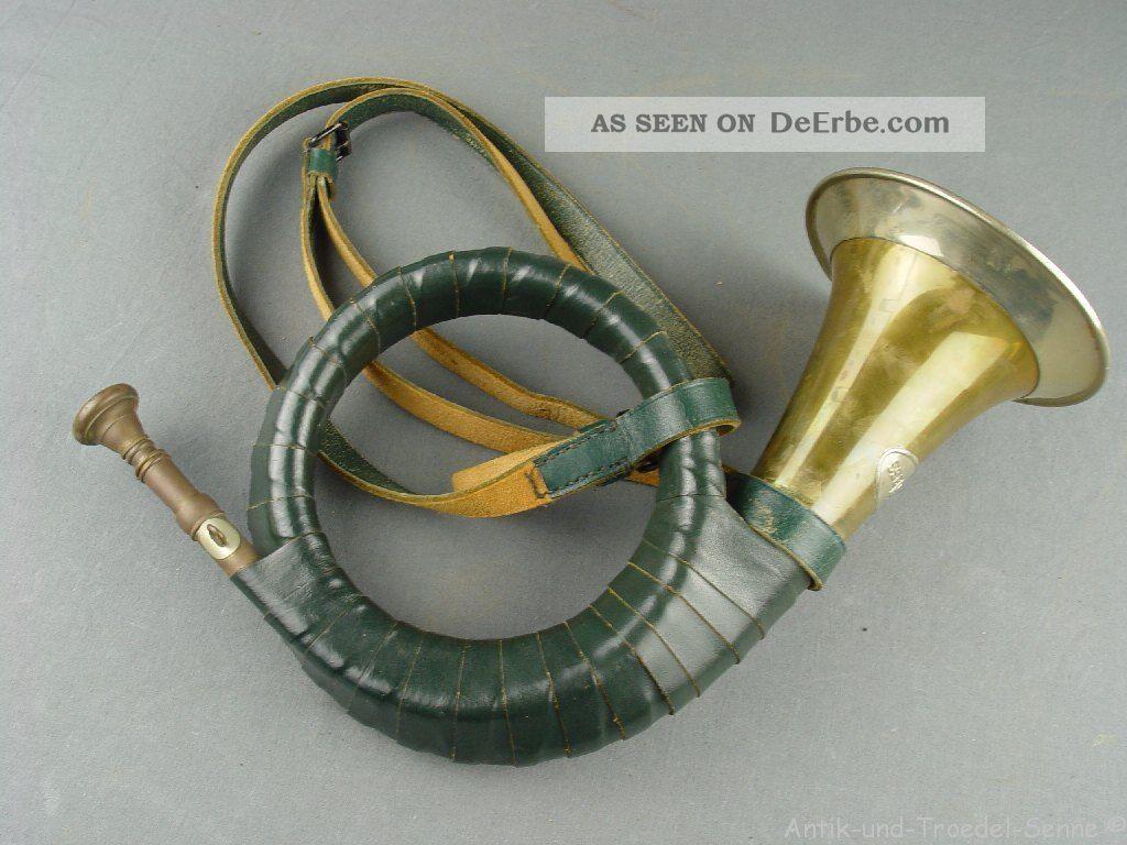 FÜrst Pless Altes Jagdhorn 01 Blasinstrumente Bild