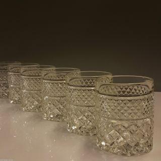 6 Pressglas Whiskygläser Whisky Glas Rautenmuster 60 /70er Vintage Design 428g Bild