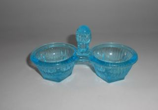 Antike Blaue Salz Pfeffer Menage Aus Pressglas Ca.  1920 Bild