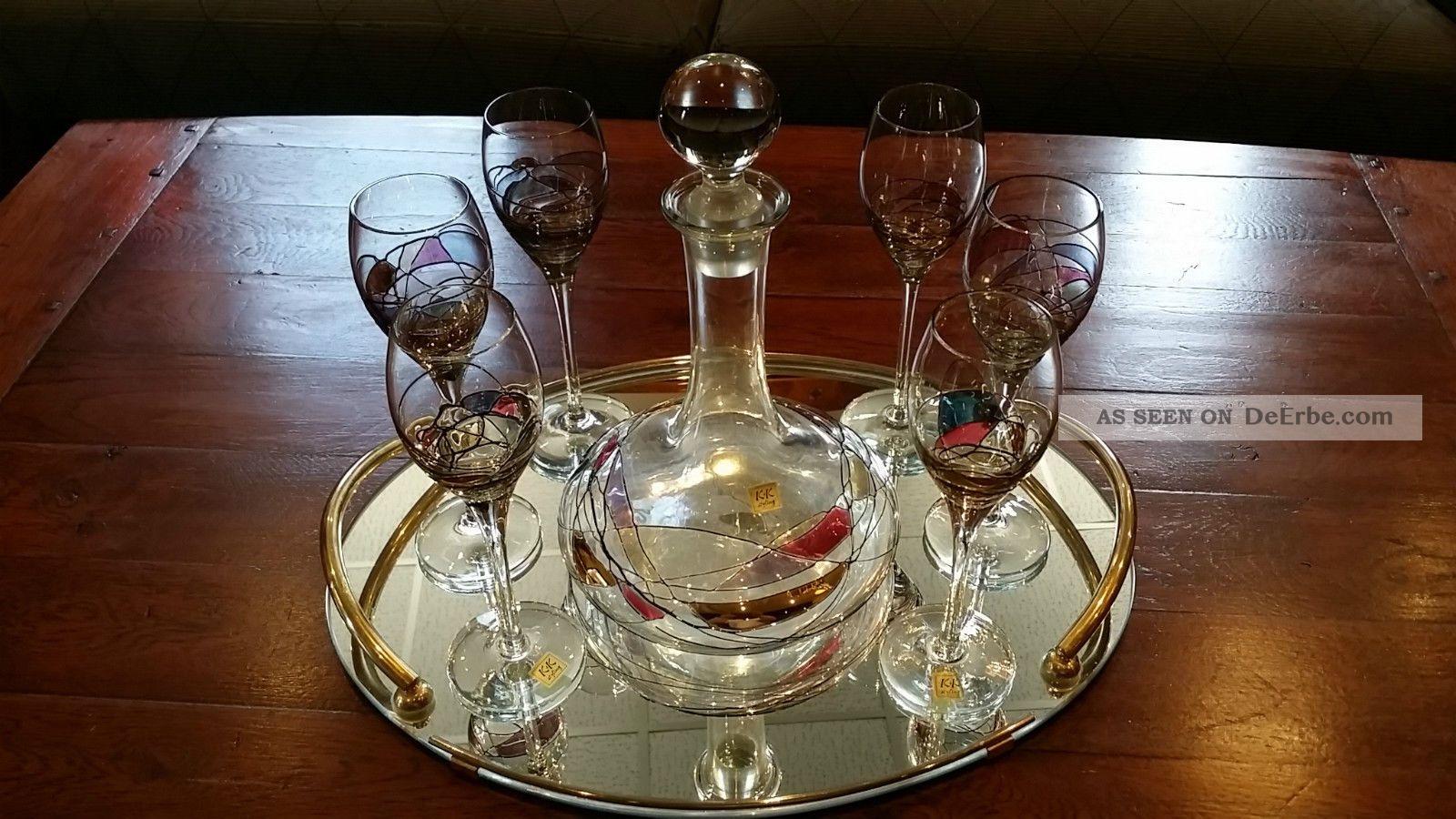 K&k Styling ° 6 Likörgläser & Karaffe / Decanter ° 6,  1 Stück Sammlerglas Bild
