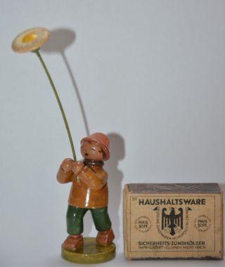 Wendt Und Kühn Blumenkind Vorkrieg Antik Blume Junge Erzgebirge Miniatur Figur Bild