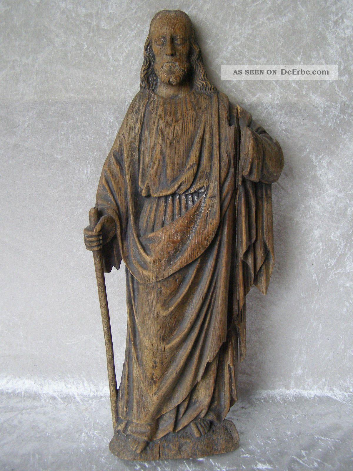 Antique Skulptur Figur Relief Jesus Christus Holz Geschnitzt 19.  Jhdt Holzarbeiten Bild