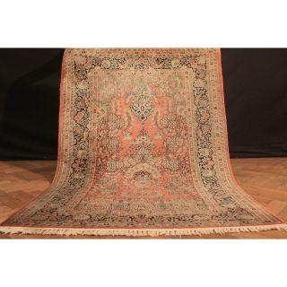 Wertvoll Handgeknüpft Kashmir Perser Seiden Teppich Lebensbaum Carpet 180x125 Bild