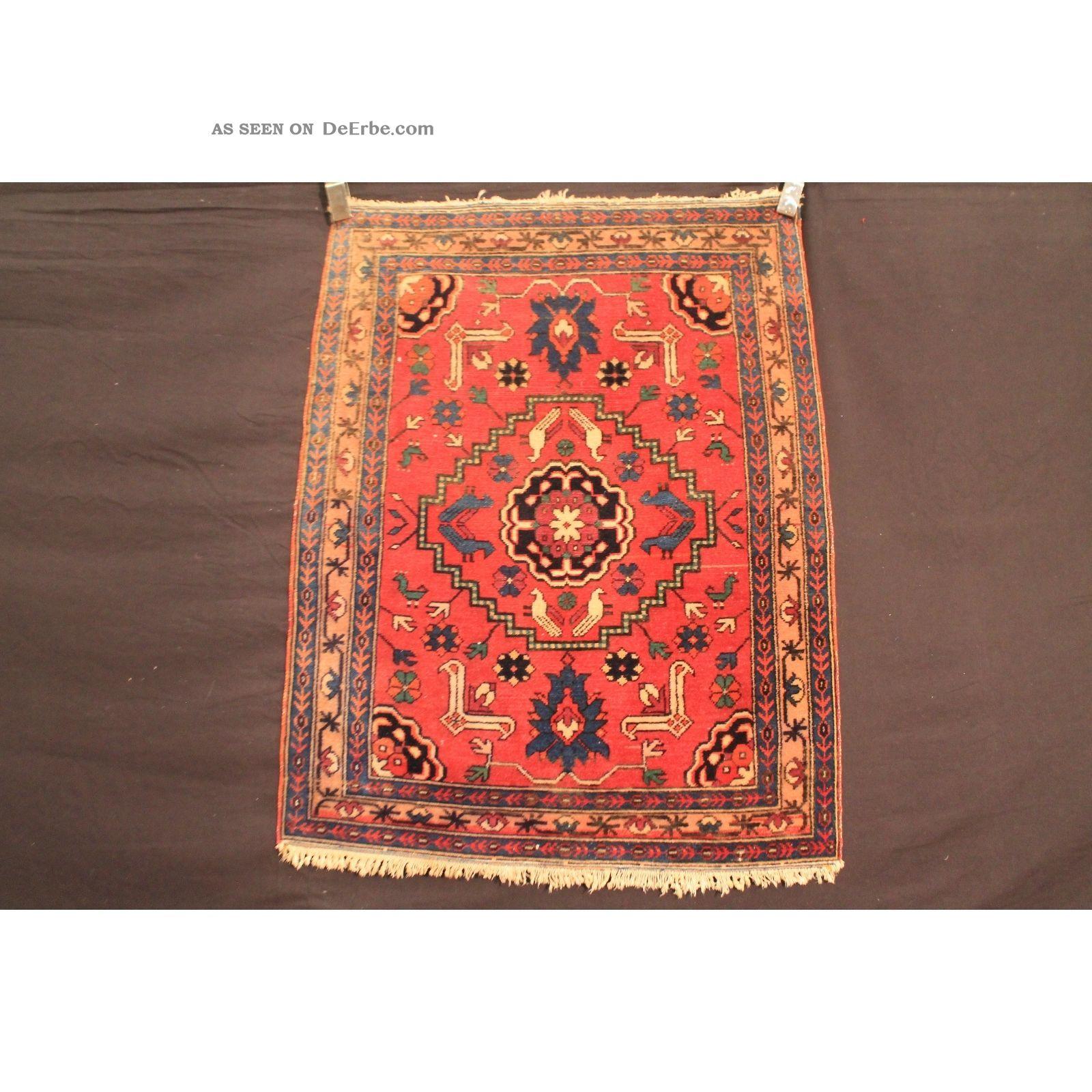 Antiker Handgeknüpfter Orient Sammler Teppich Kazak Azerbadjan Carpet Antique Teppiche & Flachgewebe Bild