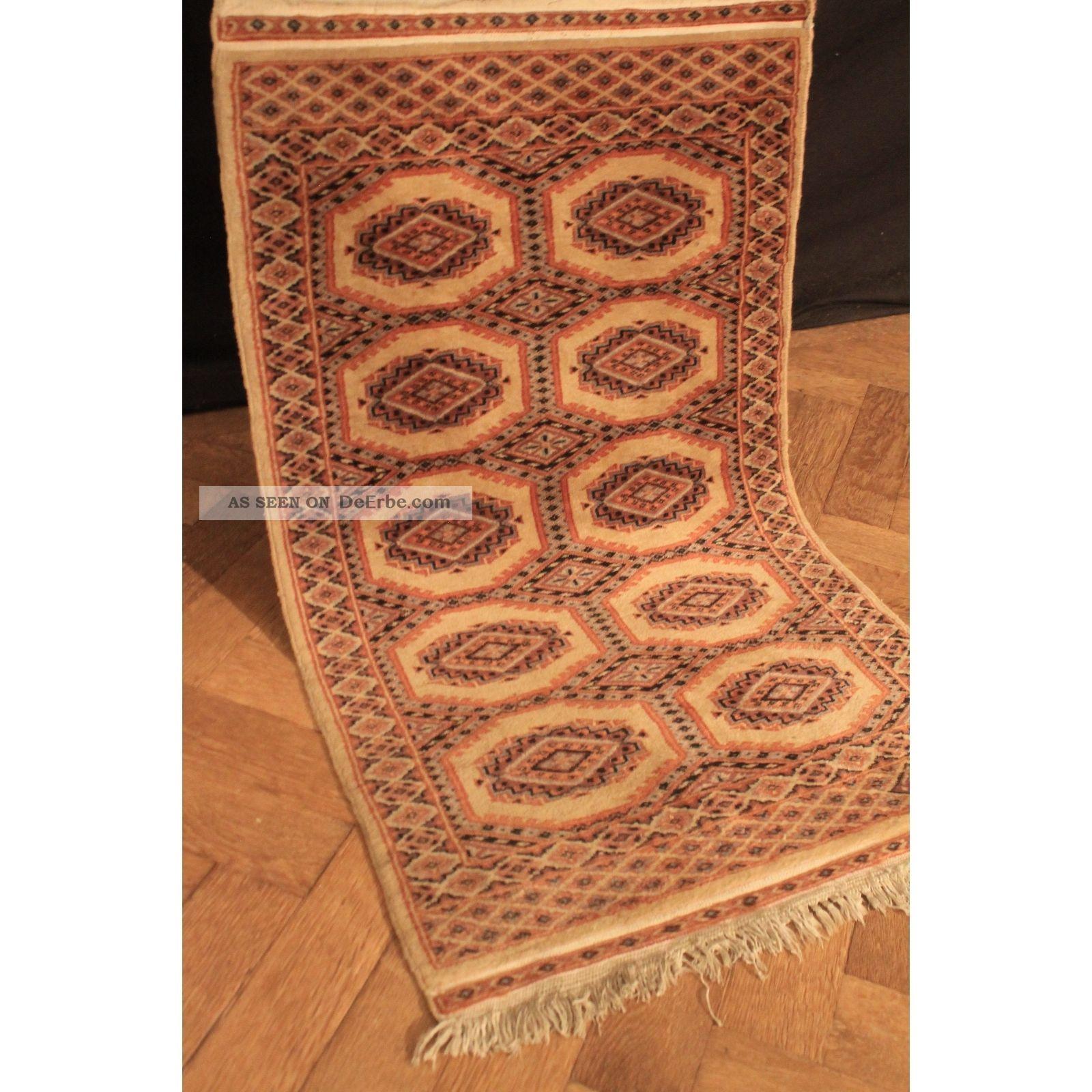 Feiner Handgeknüpfter Orient Buchara Jomut Teppich Carpet Tappeto Rug 110x64cm Teppiche & Flachgewebe Bild