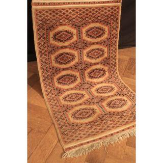Feiner Handgeknüpfter Orient Buchara Jomut Teppich Carpet Tappeto Rug 110x64cm Bild