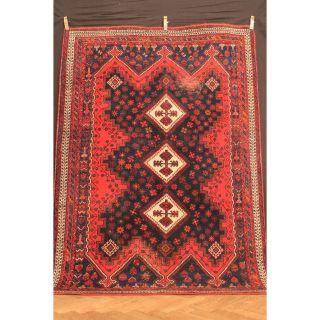 Antik Handgeknüpfter Orient Sammler Teppich Kazak Shi Raz Kasak Carpet 242x172cm Bild