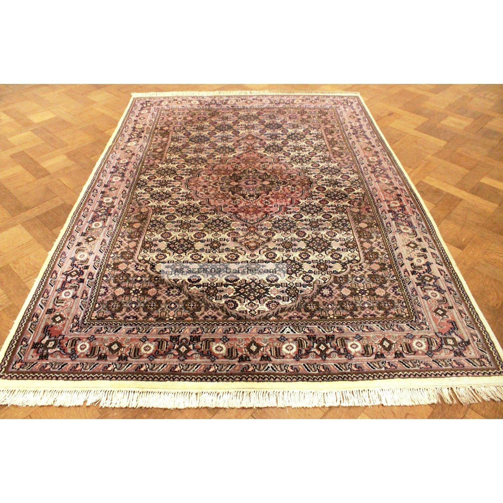 Schön Handgeknüpfter Blumen Perser Teppich Herati Nain Carpet Tappeto 240x170cm Teppiche & Flachgewebe Bild