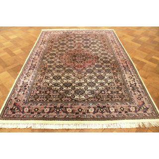 Schön Handgeknüpfter Blumen Perser Teppich Herati Nain Carpet Tappeto 240x170cm Bild