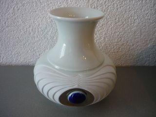 Vase Royal Porzellan Bavaria Kpm Germany Handarbeit Echt Cobalt Bild