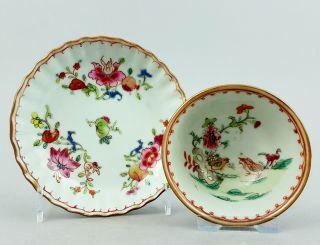 Koppchen / Teetasse China,  Kangxi Ca.  1720,  Famille Rose,  Batavia Ware 2 Bild