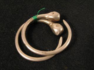 Originale Alte Tuareg Ohrringe C Old Touareg Earrings Boucle D ' Oreille Afrozip Bild