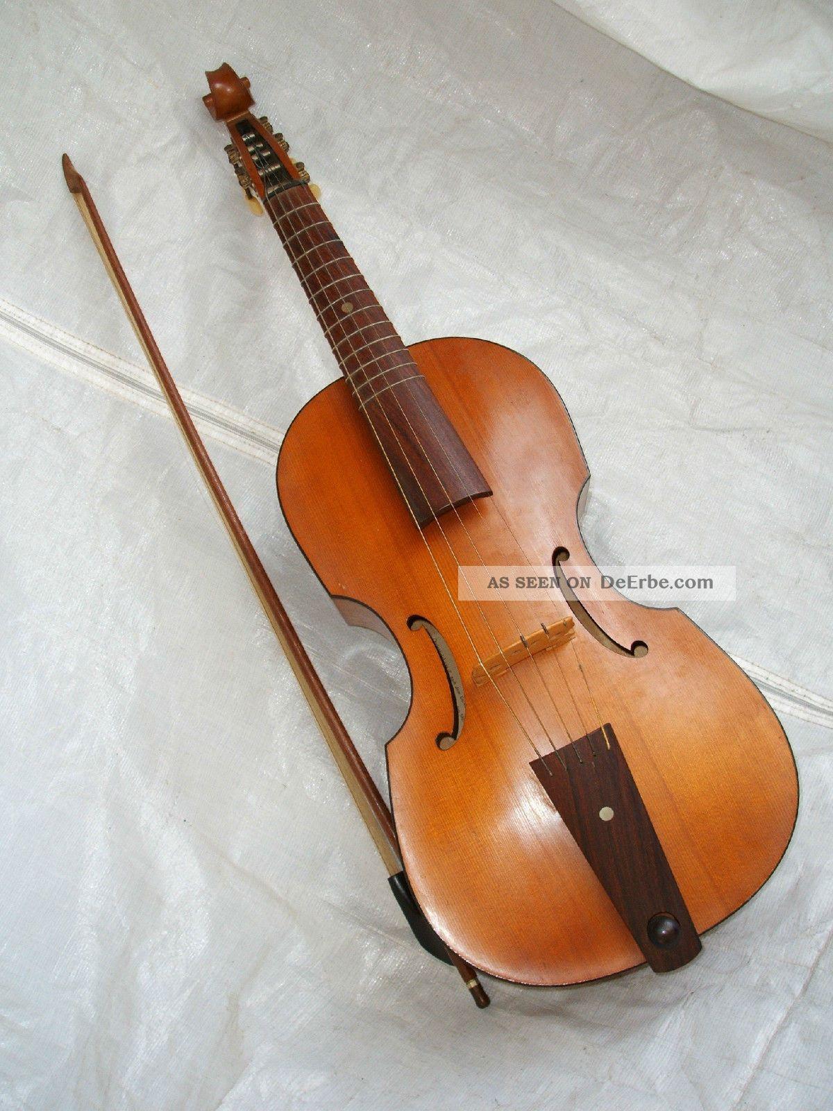 1967 Viola Da Gamba Diskant Gambe Quintfidel Fidel Von Moeck Consort Baroque Musikinstrumente Bild