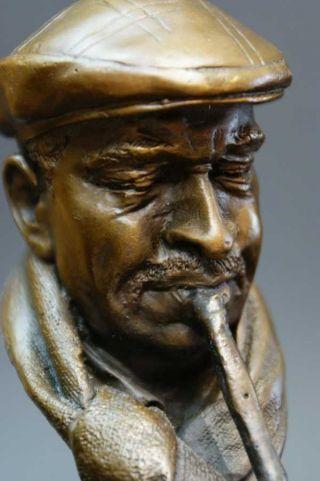 """Bronze Jazz Figur """"klarinettist"""" - Signiert Bild"""