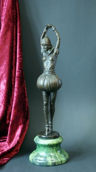 Art Deco Bronze Skulptur ' TÄnzerin ' - Signiert Bild