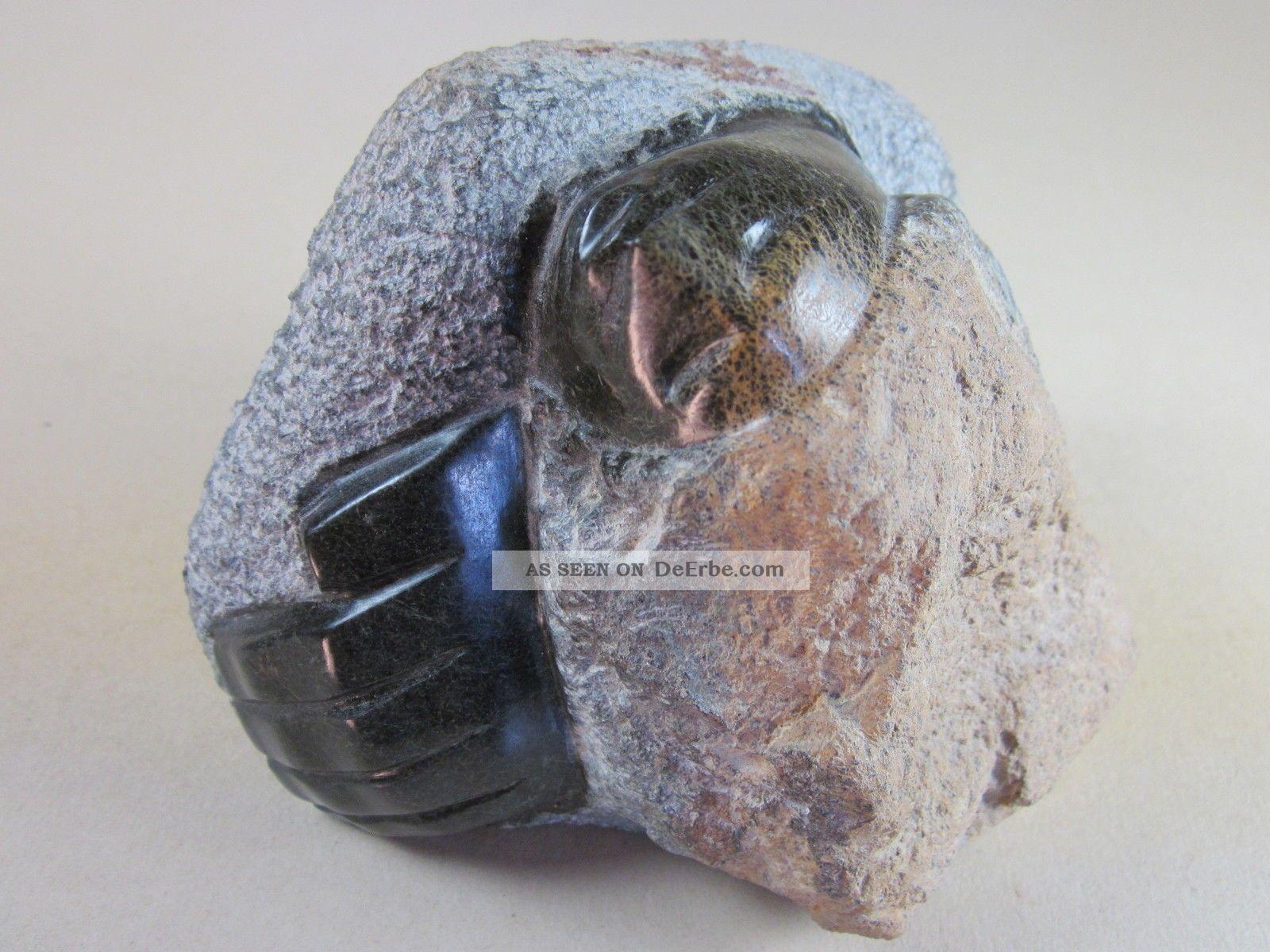 Skulptur,  Figur,  Plastik,  Serpentin,  Harter Stein,  Signiert,  Shona Art,  Simbabwe 1950-1999 Bild