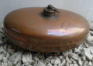 Alte,  Wärmflasche,  Bettflasche Reines Kupfer,  Ein Orginalstück,  Retro Bild