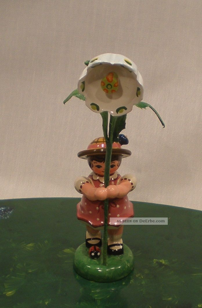 Hubrig - Volkskunst Blumenkinder / Blumenmädchen Mit Märzenbecher 307h0065 Objekte nach 1945 Bild