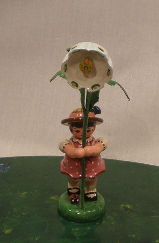 Hubrig - Volkskunst Blumenkinder / Blumenmädchen Mit Märzenbecher 307h0065 Bild
