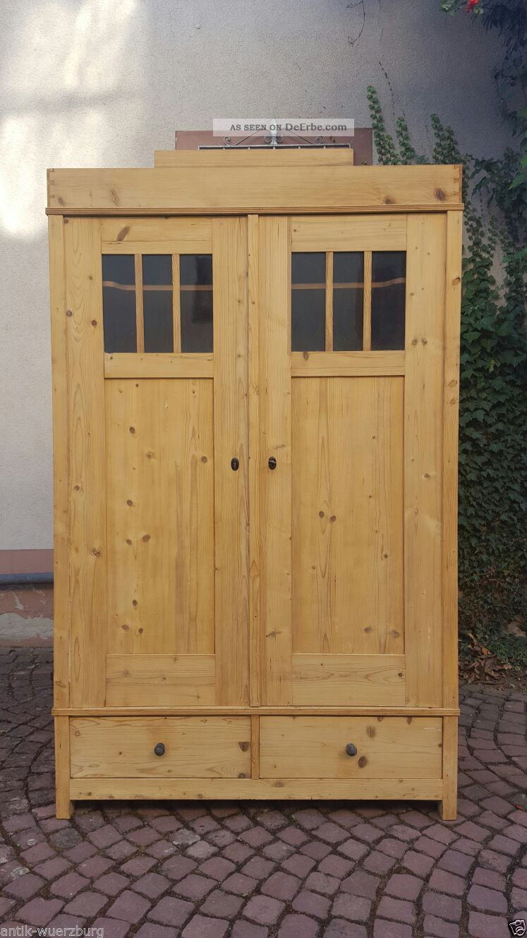 jugendstil kleiderschrank weichholz wohnfertig restauriert zerlegbar antik holz. Black Bedroom Furniture Sets. Home Design Ideas