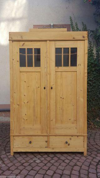 Jugendstil Kleiderschrank Weichholz Wohnfertig Restauriert Zerlegbar Antik Holz Bild