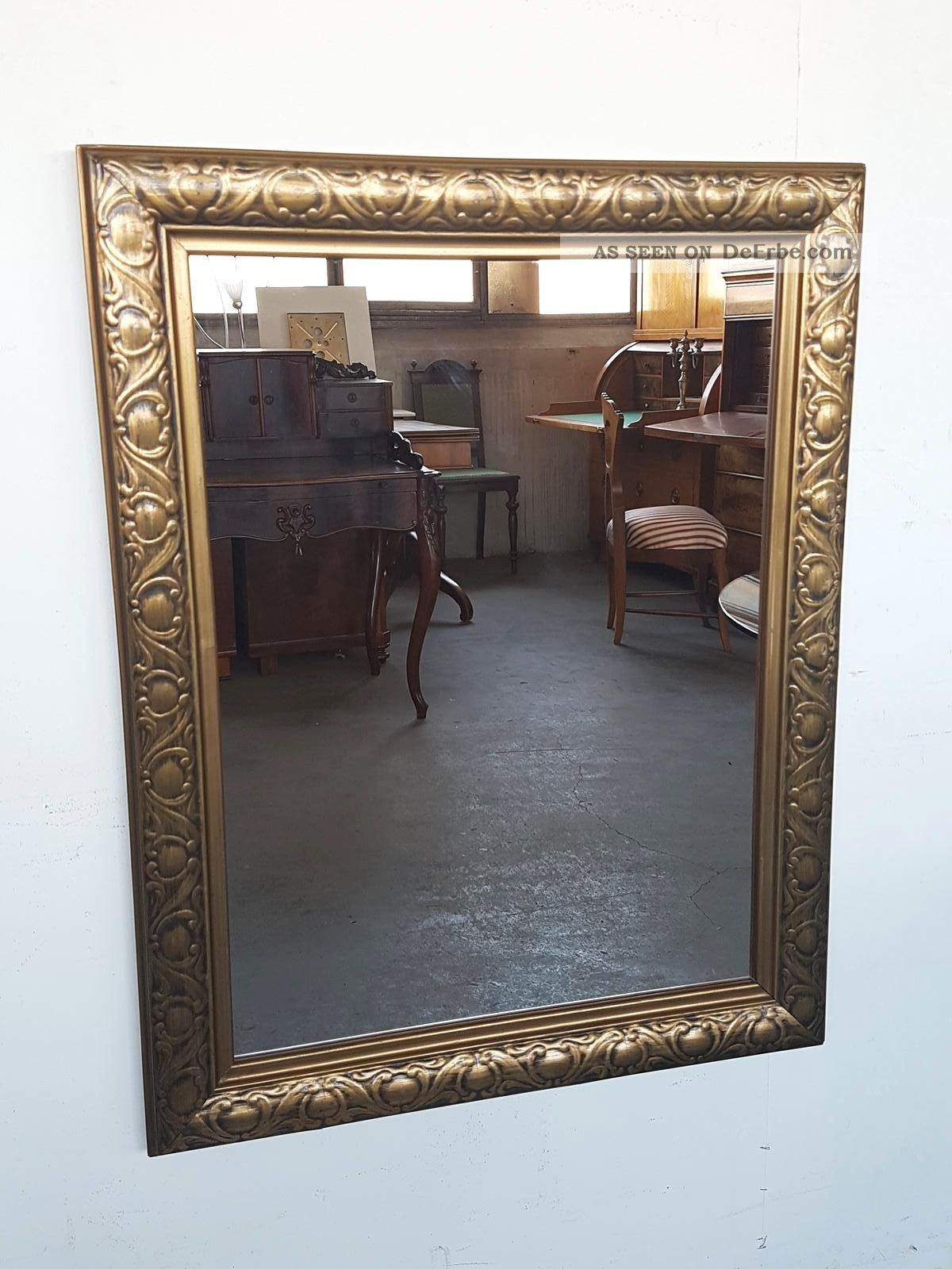 wandspiegel rahmen mit vergoldeten ornamenten um 1910. Black Bedroom Furniture Sets. Home Design Ideas