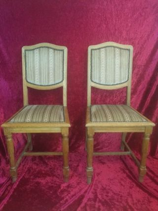 2x Jugendstil Stühle Eiche Um 1910/20 Antik Stuhl Bild