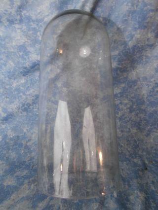 Schwerer Grosser Glasdom; Glassturz Für Jahresuhr; 15,  2 Cm Durchmesser;33,  5 Hoch Bild