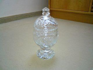 Wunderschöne Bonboniere Deckelvase Deckeldose Dose Schale Bleikristall Neuwertig Bild