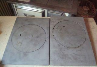 4 Tlg Ofenplatte Herdplatten Zentralplatten Guss Ca.  9,  5 Kg Nie Benutzt Bild