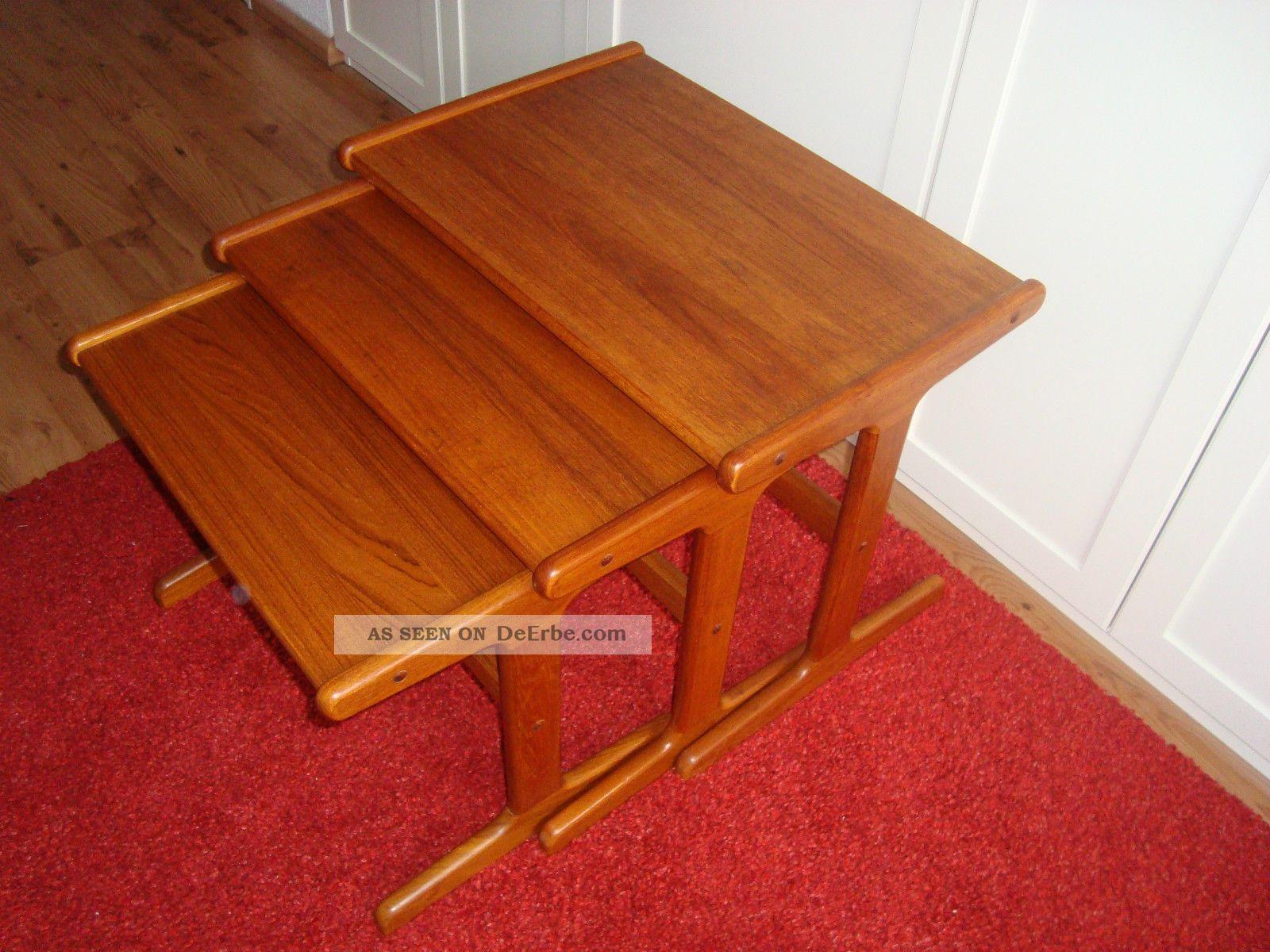 Teak Danish,  Satztische,  Tisch,  Beistelltische,  Tische 60er Jahre 1960-1969 Bild
