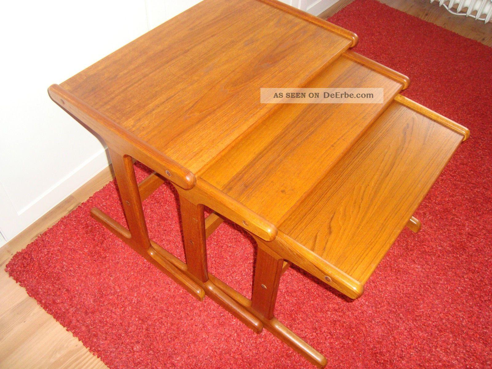 teak danish satztische tisch beistelltische tische 60er jahre. Black Bedroom Furniture Sets. Home Design Ideas