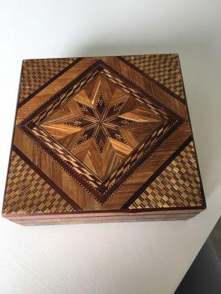 Schöne Kiste Aus Holz Bild