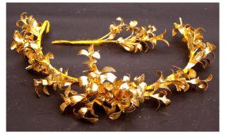 Alter Brautkranz,  Anstecker Diadem Goldene Hochzeit Braut Krone Shabby Bild