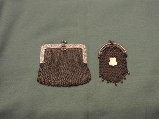 Antike Kleingeldtaschen,  Kettentaschen,  84 Zolotniki Und 800 Silber Bild