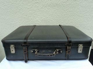 Alter Großer Koffer Reisekoffer Ideal Für Oldtimer/motorrad Bild