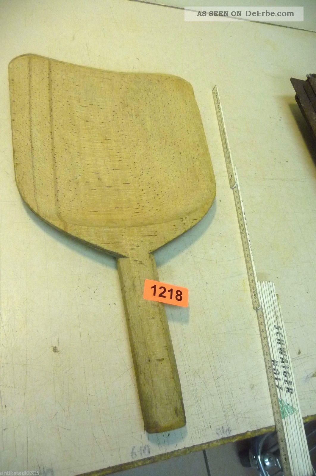 Nr.  1218.  Altes Schinkenbrett Holzbrett Schneidebrett Old Wooden Bread Board Bauer Bild