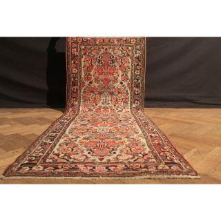 Alter Handgeknüpfter Orient Blumen Teppich Sa Rug Läufer Carpet Tappeto 220x83cm Bild