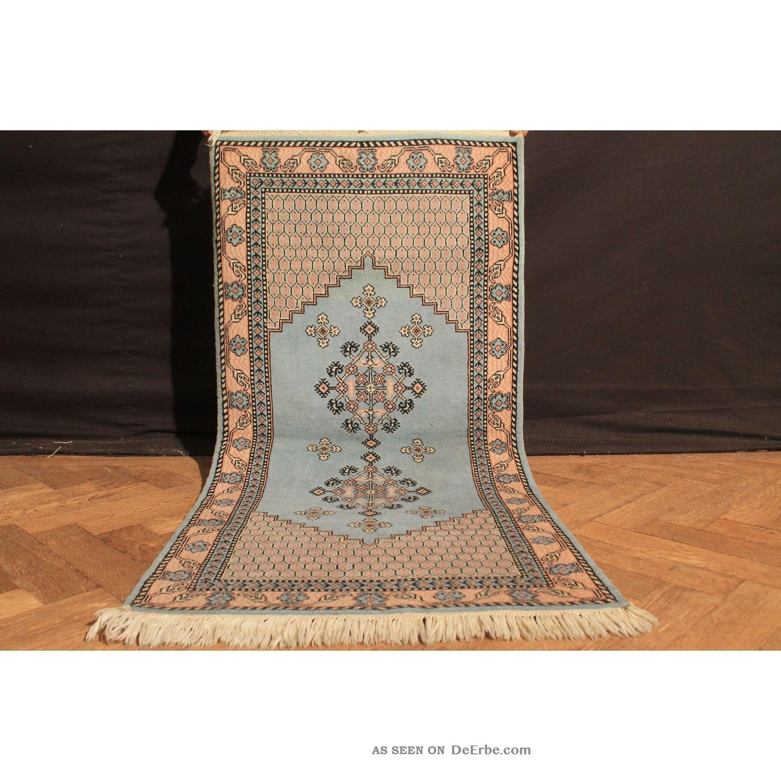 Wunderschön Handgeknüpfter Orient Teppich Atlas Berber Old Rug Carpet 145x70cm Teppiche & Flachgewebe Bild